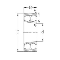 38,1 mm x 69,012 mm x 19,05 mm D NKE 2309-K Self Aligning Ball Bearings