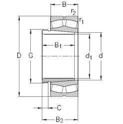 90 mm x 190 mm x 43 mm Bore Diameter (mm) NKE 23120-K-MB-W33+AHX3120 Spherical Roller Bearings