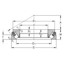 C2 NKE 29456-M Thrust Roller Bearings