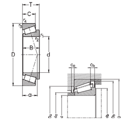85,725 mm x 136,525 mm x 29,769 mm T NKE 30206 Tapered Roller Bearings