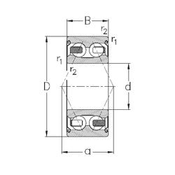 Bore Diameter (mm) NKE 3201-B-2Z-TV Angular Contact Ball Bearings