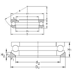 25 mm x 47 mm x 24 mm d NKE 53420-MP+U420 Thrust Ball Bearings
