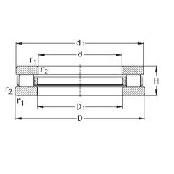 Fw NKE 81156-MB Thrust Roller Bearings