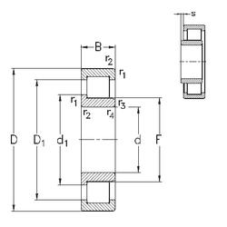D NKE NJ2204-E-TVP3 Cylindrical Roller Bearings