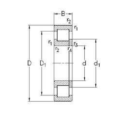 12 mm x 28 mm x 8 mm Rolling Element NKE NUP2219-E-MA6 Cylindrical Roller Bearings
