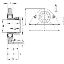 l1 min. NKE PBS25 Bearing Units