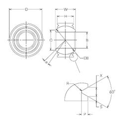 cage material: NMB MBW18VCR Plain Bearings