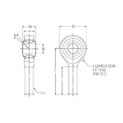 30 mm x 62 mm x 17 mm D NMB PBR16EFN Self Aligning Ball Bearings