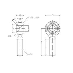 36,5125 mm x 80 mm x 38,1 mm d1 NMB RBT12E Plain Bearings