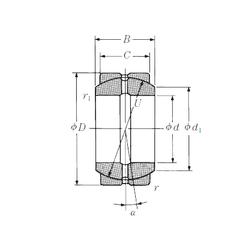 977,9 mm x 1130,3 mm x 63,5 mm da NSK 120FSF180 Plain Bearings