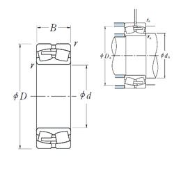 635 mm x 812,8 mm x 95,25 mm d NSK 22260CAE4 Spherical Roller Bearings