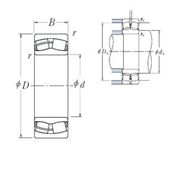 Thread (G) NSK 24126CE4 Spherical Roller Bearings