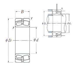 105 mm x 190 mm x 50 mm Width (mm) NSK 24196CAE4 Spherical Roller Bearings