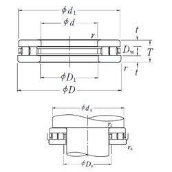 Bolt (G) NSK 260TMP12 Thrust Roller Bearings