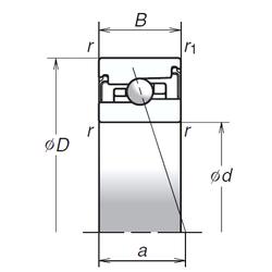 Basic dynamic load rating – C NSK 75BNR20XV1V Angular Contact Ball Bearings