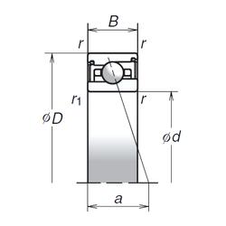 C NSK 75BNR29XV1V Angular Contact Ball Bearings