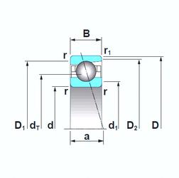 Bearing number NSK 7915CTRSU Angular Contact Ball Bearings