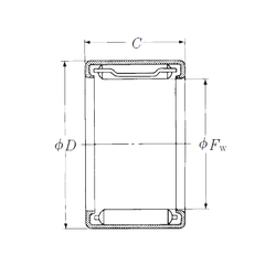 Basic dynamic load rating (C) NSK FJL-2210L Needle Roller Bearings
