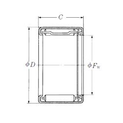 200 mm x 420 mm x 138 mm Bore Diameter (mm) NSK FJLT-1012 Needle Roller Bearings