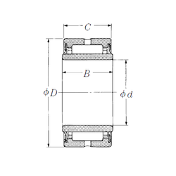 30 mm x 90 mm x 23 mm Bore Diameter (mm) NSK NA4917TT Needle Roller Bearings