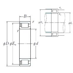 320 mm x 580 mm x 92 mm Ew NSK NCF3072V Cylindrical Roller Bearings