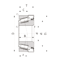 110 mm x 200 mm x 53 mm d NSK R25-9D+X41Z-2 Tapered Roller Bearings