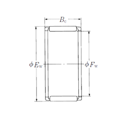 30 mm x 90 mm x 23 mm Bore Diameter (mm) NSK WJ-566424 Needle Roller Bearings