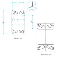Outer Diameter (mm) NSK ZA-43KWD07AU42C-01LB Tapered Roller Bearings