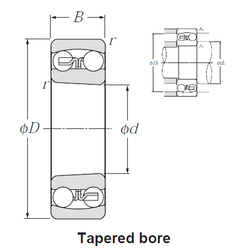 38 mm x 64 mm x 37 mm Bearing number NTN 1322SK Self Aligning Ball Bearings