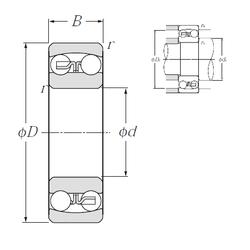 40 mm x 75 mm x 50 mm Outer Diameter (mm) NTN 2209S Self Aligning Ball Bearings
