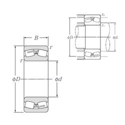 95 mm x 120 mm x 13 mm Width (mm) NTN 23140B Spherical Roller Bearings