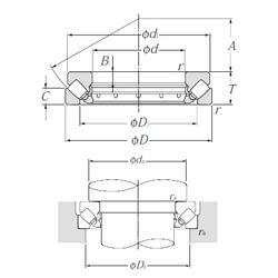 D NTN 29348 Thrust Roller Bearings