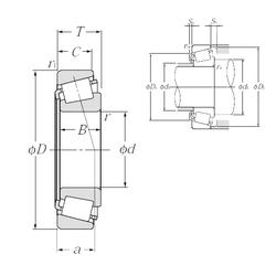 25 mm x 62 mm x 17 mm Weight NTN 30236U Tapered Roller Bearings