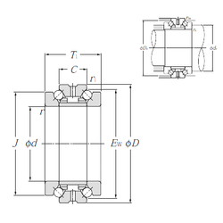 38,300 mm x 150,000 mm x 138,000 mm B NTN 562013M Thrust Ball Bearings