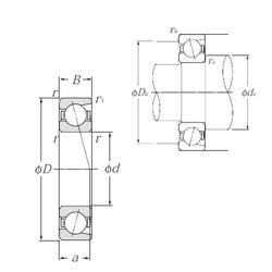 Size (mm) NTN 7007C Angular Contact Ball Bearings