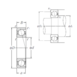 40 mm x 90 mm x 23 mm Size (mm) NTN 7013 Angular Contact Ball Bearings