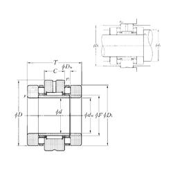31,75 mm x 52,388 mm x 32 mm D NTN ARN70130 Complex Bearings