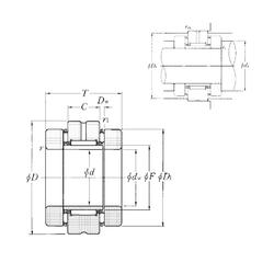 40,98 mm x 78 mm x 14,9 mm C NTN AXN3062 Complex Bearings