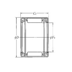 40 mm x 90 mm x 26 mm Bore Diameter (mm) NTN HK2020LL Needle Roller Bearings
