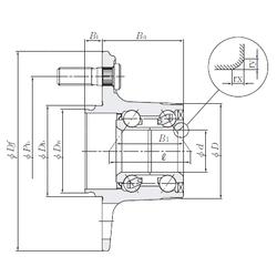 75 mm x 160 mm x 37 mm Y2 NTN HUB182-4 Angular Contact Ball Bearings