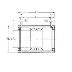 6 mm x 19 mm x 6 mm d NTN KD101930 Linear Bearings