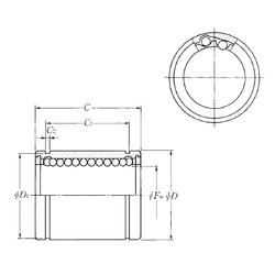 85 mm x 110 mm x 13 mm r3 min. NTN KLM03LL Linear Bearings