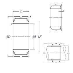100 mm x 150 mm x 24 mm Bearing number NTN NA5912 Needle Roller Bearings