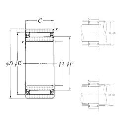 d3 NTN NAO-9×22×12 Needle Roller Bearings