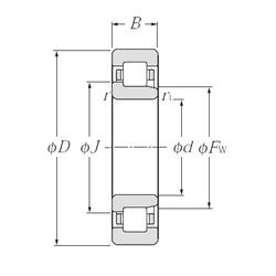 Shaft (Fw) NTN NJ317E Cylindrical Roller Bearings