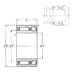 Basic dynamic load rating (C) NTN NKIA5902 Complex Bearings