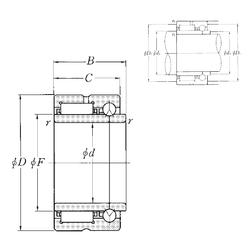 480 mm x 700 mm x 218 mm Size (mm) NTN NKIB5909R Complex Bearings