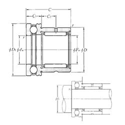 55 mm x 120 mm x 49,23 mm Bearing number NTN NKX35T2 Complex Bearings