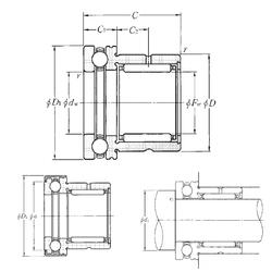 Width (mm) NTN NKX50Z Complex Bearings