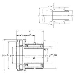 45 mm x 85 mm x 30,2 mm Bore Diameter (mm) NTN NKXR20T2+IR17×20×20 Complex Bearings